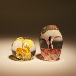 Paperweights - yellow, red